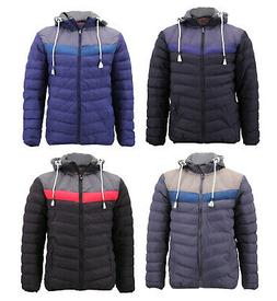 Men's Slim Fit Rain Coat Removable Hood Zipper Retro  Lightw