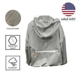 Men's Waterproof Light Outdoor Windbreaker Hooded Rain Coat