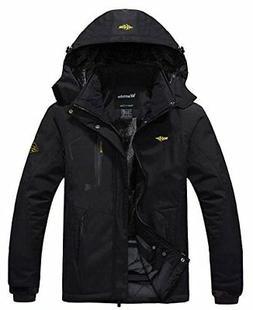 Men's Mountain Waterproof Fleece Ski Jacket LARGE Windproof