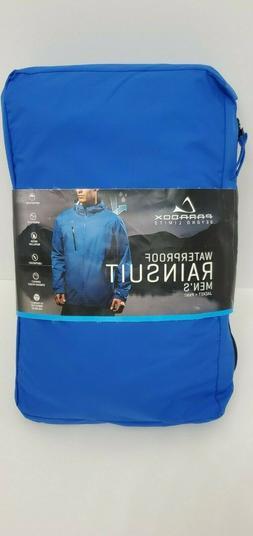 Men Paradox Waterproof Rain Jacket - Cobalt Blue Size-M