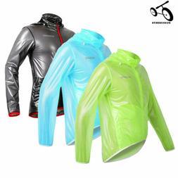 Men Women Cycling Jacket Waterproof Long Sleeve Rain Coat Wi