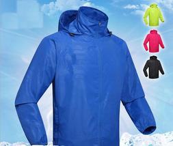 Men Women Motorcycle Waterproof Wind Rain Coat Fast Dry Hood