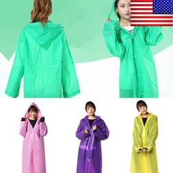 Men Women Raincoat Fashion Waterproof Long Rain Coat Outdoor