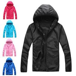 Men Women Unisex Hooded Rain Coats Waterproof Windproof Full