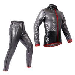 Men Women Windproof Waterproof Jacket Bike Bicycle Trousers