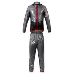 Men Women Windproof Waterproof Rain Coat Jacket & Trousers f