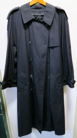 Mens Black London Fog Trench Raincoat, LIMITED EDITION, Size