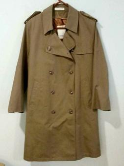 Mens Designer All Weather Dress Over Coat, Trench / Rain Coa