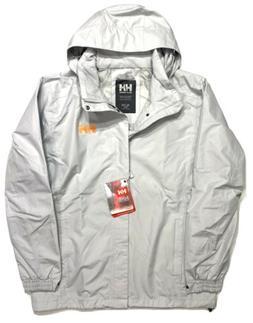 HELLY HANSEN Mens Dubliner Hooded Zip Rain Jacket Gray