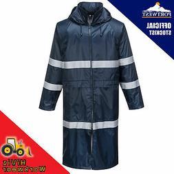 mens hi vis rain coat waterproof classic