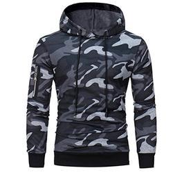 Hattfart Mens' Hoodie Sweatshirt Pullover Long Sleeve Camouf