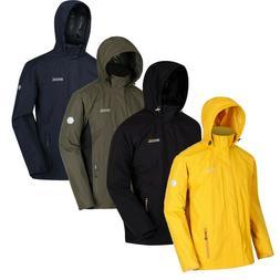 Regatta Mens Matt Windproof Waterproof Hooded Coat Full Zip
