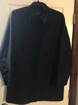 Mens Kenneth Cole New York Light Rain Coat Long Jacket Large