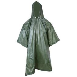 Mens Rain Coat Travel Hoodie Waterproof Poncho Hiking Gear S