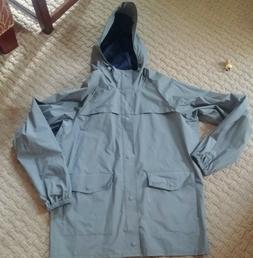 mens columbia rain coat size medium nwt hooded grey jacket w
