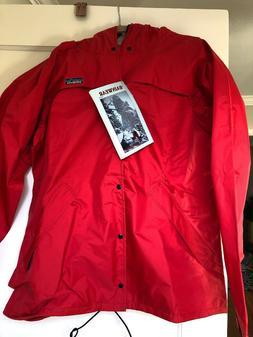 ACADEMY Men/'s navy blue Rain  hooded Jacket//coat /& pants 2pc set size 2XL or XL