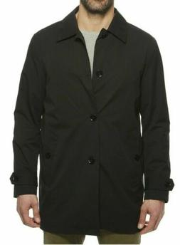 Cole Haan Mens Stand Collar Rain Jacket with Back Hem Vent B