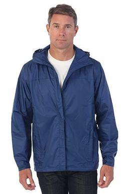 Gioberti Men's Waterproof Rain Jacket - BLUE XXL