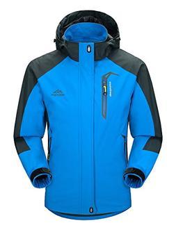 MAGCOMSEN Mens Windproof Jacket Raincoats Winter Sportswear