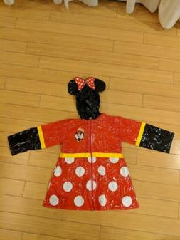 Minnie Mouse Rain Coat 6/6X NWOT