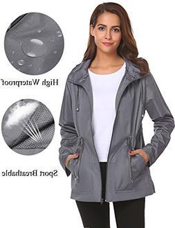 Romanstii Mountain Jackets for Women,Windbreaker Rain Coat L