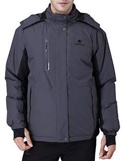 CAMEL CROWN Men's Mountain Snow Waterproof Ski Jacket Deta