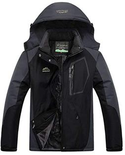YXP Men's Mountain Waterproof Ski Jacket Windproof Rain Jack
