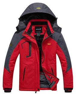 Wantdo Men's Waterproof Mountain Jacket Fleece Windproof Ski