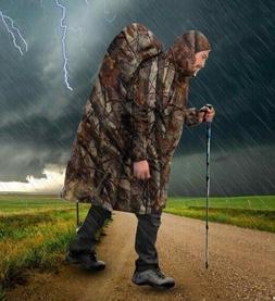 Multifunction Rain Coat Portable Hiking Camping Rain Poncho