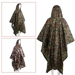 Cicitop 3in1 Multifunctional Rain Poncho with Storage Bag, C