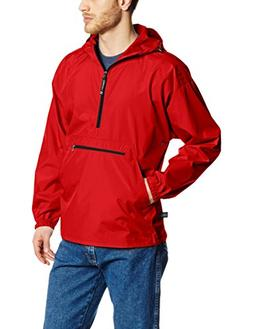 Charles River Apparel Men's Pack-N-Go Windbreaker Pullover,