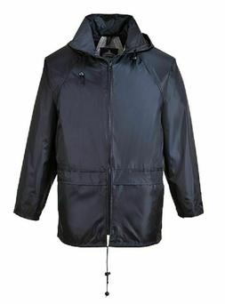 PORTWEST NAVY CLASSIC RAIN JACKET WATERPROOF DURABLE SEALED
