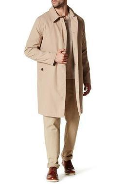 NEW $595 Cole Haan Nylon Trench Rain Coat Jacket Tan Men Siz