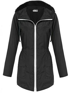 HOTOUCH NEW Black Hooded Fishtail Women's Size Medium M Park