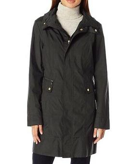 Cole Haan NEW Black Womens Size Small S Removable Hood Rain