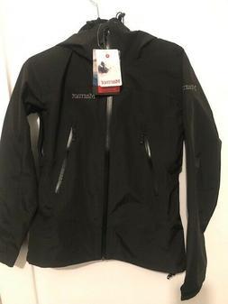 NEW Marmot Eclipse waterproof rain jacket black womens XS