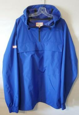 New HUNTER For Target Packable Blue Pullover Rain Jacket Coa