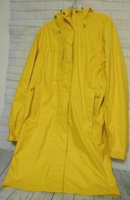 New LL Bean Tek Medium Yellow Womens Hooded  Lightweight Rai