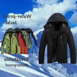 NEW Men's Coats Jackets Windproof Waterproof Long Sleeve Rai