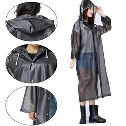 NEW Men Women Waterproof Jacket EVA Hooded Raincoat Rain Coa
