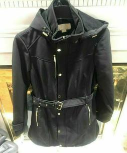 NEW! Michael Kors Rain Jacket Coat Black/Gold Women's  XL