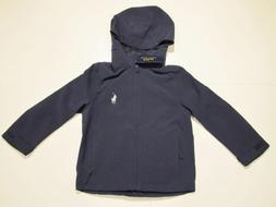 New tag Boys Ralph Lauren Polo Navy Blue Hooded Packable Rai