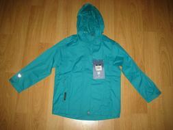 NEW White Sierra Waterproof Rain Jacket-Coat Raincoat Teal G