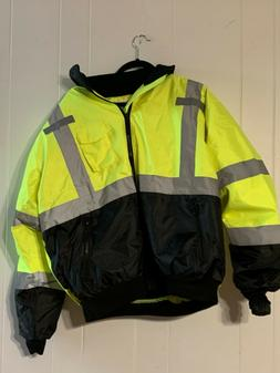 New Without Tags Norfolk Southern Reflective Rain Coat Sz-L