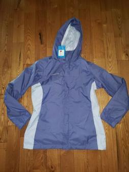 NEW Women's Eve/ Faded Sky COLUMBIA Rain Jacket Coat Size La