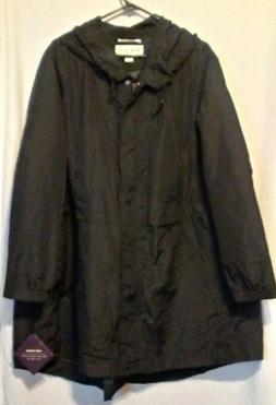 NEW Women's Plus Size Rain Coat - Ava & Viv - Black - Size 3