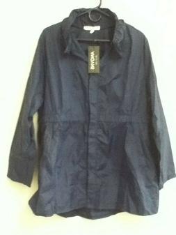 NEW Women's waterproof packable rain jacket batwing Sleeved