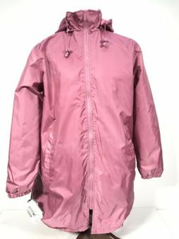 NEW TOTES Womens Pink Fleece Lined Rain Coat Jacket Size Med