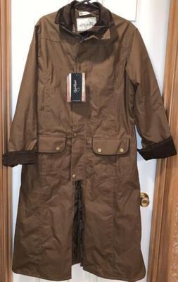 NEW women's Peregrine Raincoat Jacket Coat England XL Brow