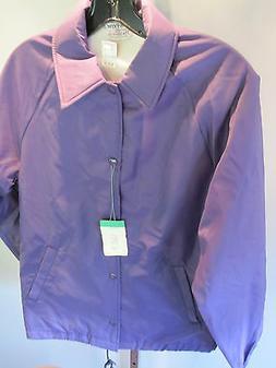 Nos Purple Sport School WarmUp Rain Coat Windbreaker Jacket